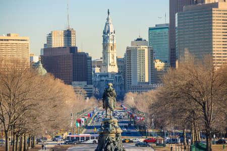 Philadelphia skyline, taken from the art museum photo