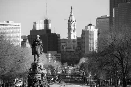keystone light: Philadelphia skyline, taken from the art museum
