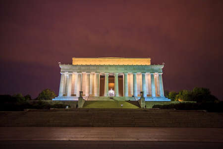 abe: Lincoln Memorial at Dawn Editorial