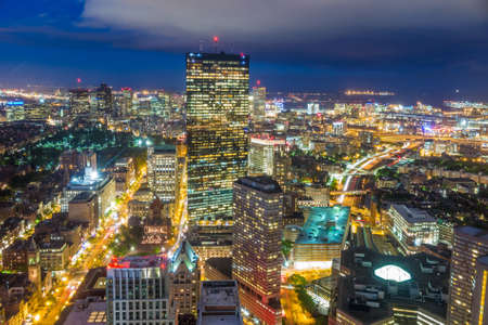 boston tea party: Aerial view of Boston in Massachusetts, USA.