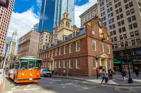Boston May 20 :  The Old State House in Boston, Massachusetts, USA on May 20, 2014. Built in 1713, it was the seat of the Massachusetts General Court until 1798.