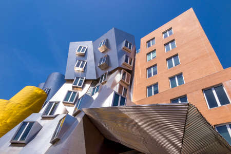 BOSTON - MAY 30: Ray and Maria Stata Center on the campus of MIT May 30, 2014 in Boston, MA. The academic complex was designed by Pritzker Prize-winning architect Frank Gehry.