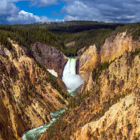 Lower Falls of the Yellowstone from Artist Point, WI USA photo