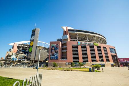 seahawks: SEATTLE - 05 de julio: CenturyLink Field, Seattle el 5 de julio de 2012. Originalmente fue llamado Estadio Seahawks, pero ha sido renombrado como Qwest Field el 23 de junio 2004 Editorial