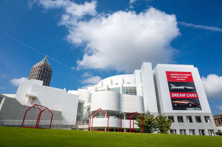 atlanta tourism: Atlanta - August 4 : High Museum of art in midtown Atlanta on August 4, 2014. Located on Peachtree Street in Midtown, the citys arts district, the High is a division of the Woodruff Arts Center. Editorial
