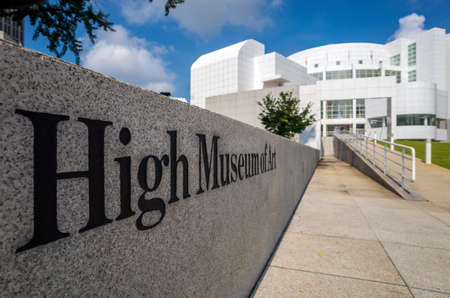 woodruff: Atlanta - August 4 : High Museum of art in midtown Atlanta on August 4, 2014. Located on Peachtree Street in Midtown, the citys arts district, the High is a division of the Woodruff Arts Center. Editorial