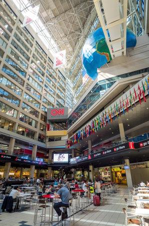 newsroom: ATLANTA - AUGUST 10: Interior of CNN Center in Atlanta on August 10, 2014. The CNN Center is the world headquarters of CNN.