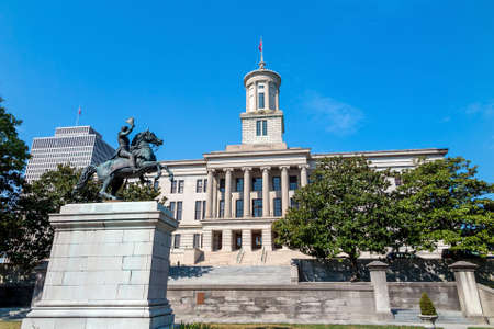 downtown capitol: The Tennessee State Capitol Building in downtown Nashville. USA