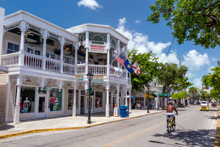 KEY WEST, FLORIDA USA - August 10, 2014: View of downtown Key West, Florida on August 10, 2014. It is considered the southernmost city in the continental United States.