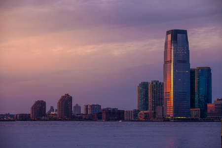 View of Hudson River and the Jersey City. USA photo