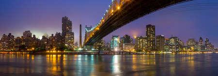 queen blue: Queen Bridge and New York skyline