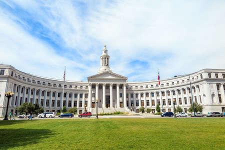 colorado city: City Hall in downtown of Denver, Colorado. Stock Photo