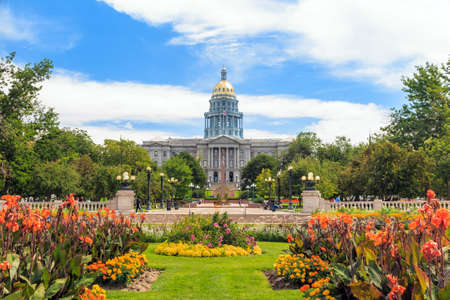 Colorado State Capitol Building in Denver 免版税图像