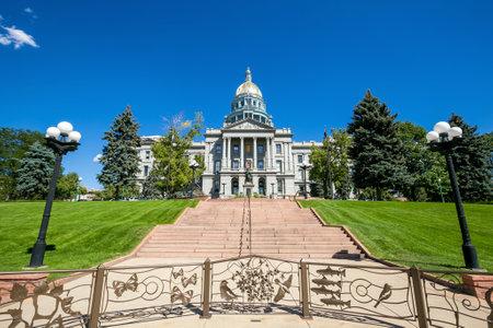 colfax: Colorado State Capitol Building in Denver Editorial