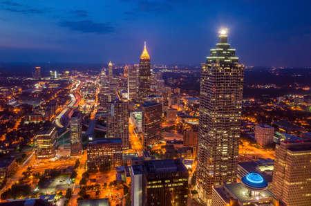 midtown: Skyline of downtown Atlanta, Georgia, USA