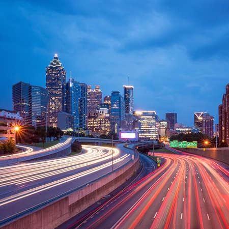 atl: Skyline of Downtown Atlanta, Georgia, USA