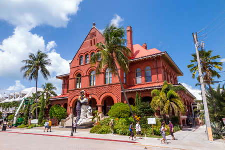 10 key: KEY WEST, FLORIDA USA - August 10: Key West Museum of Art & History at the Custom House on August 10, 2014. The building was designed by architect William Kerr, and was completed in 1891.