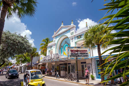 continental united states: KEY WEST, FLORIDA USA - August 10, 2014: View of downtown Key West, Florida on August 10, 2014. It is considered the southernmost city in the continental United States.