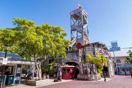 10 key: KEY WEST, FLORIDA USA - August 10, 2014: The Shipwreck Treasures Museum is a popular tourist attraction in downtown Key West.