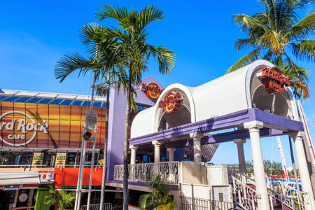hard rock cafe: MIAMI, FL - August 11: Hard Rock Cafe on August 7, 2014 in Miami, Florida. It is located at 401 Biscayne Blvd. R-200 in Bayside Marketplace Editorial