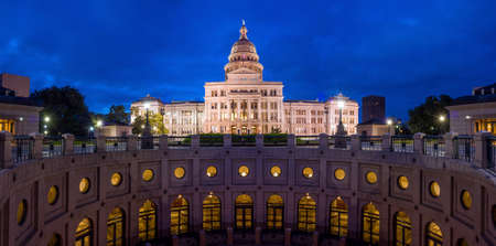 austin: Texas State Capitol Building in Austin, TX. at twilight