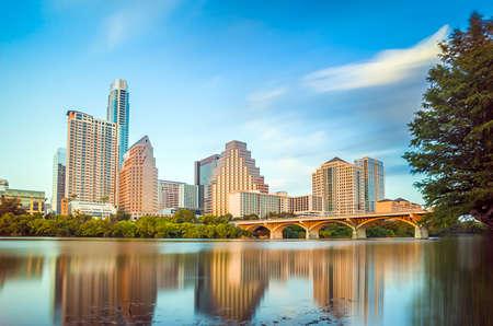 austin: View of Austin, Texas Skyline der Innenstadt Lizenzfreie Bilder