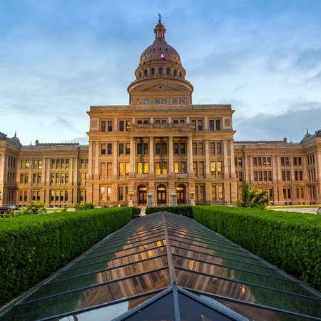 tx: Texas State Capitol Building in Austin, TX. at twilight