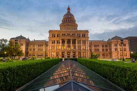 twilight: Texas State Capitol Building in Austin, TX. at twilight