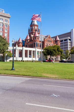 Kennedy: X on the road where President John F. Kennedy was assassinated in dallas Texas Stock Photo