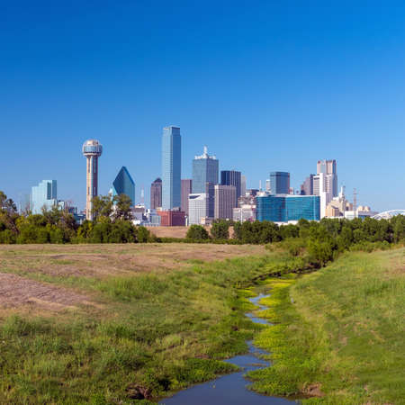 downtown: A View of the Skyline of Dallas, Texas, USA