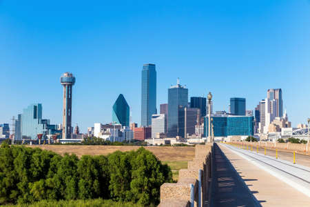 city skyline: A View of the Skyline of Dallas, Texas, USA