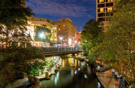 walk in: River Walk in San Antonio, Texas Editorial