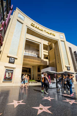 dolby: LOS ANGELES - OCTOBER 25: Dolby Theatre (Kodak Theatre) is home of Academy Awards (popularly known as the Oscars) as seen in Los Angeles (Hollywood) on October 25, 2014 Editorial