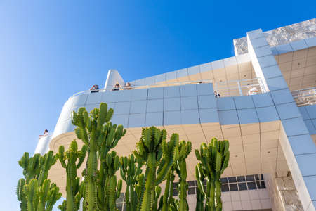 housed: LOS ANGELES - OCTOBER 25: The J. Paul Getty Museum on October 25, 2014, commonly referred to as the Getty, is an art museum in California housed on two campuses: the Getty Center and Getty Villa. Editorial