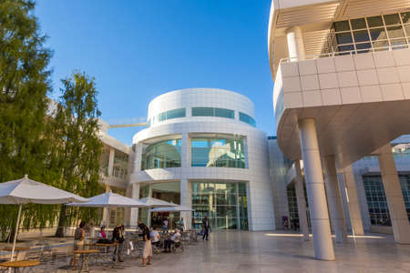 referred: LOS ANGELES - OCTOBER 25: The J. Paul Getty Museum on October 25, 2014, commonly referred to as the Getty, is an art museum in California housed on two campuses: the Getty Center and Getty Villa. Editorial