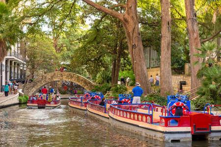 bridge nature: River Walk in San Antonio, Texas Stock Photo