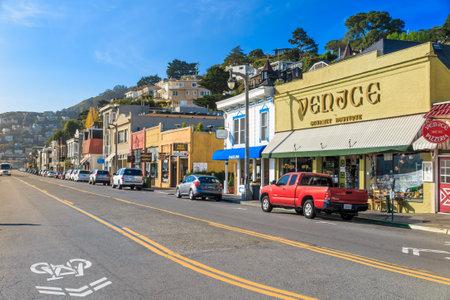 SAN FRANCISCO - October 22: Sausalito city on on October 22, 2014 in San Francisco, USA. Sausalito is a San Francisco Bay Area city in Marin County, California.