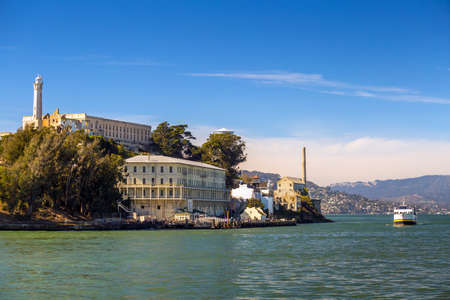 cell block: SAN FRANCISCO, USA - November 4: The Alcatraz Island Prison onOctober 4, 2014 in San Francisco, California. Alcatraz is one of the most infamous prisons in American history.