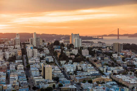 coit: View of San Francisco from the Coit Tower at sunset