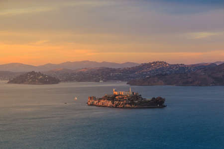 san fran: Alcatraz Island in San Francisco, USA.