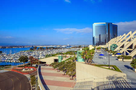 convention center: SAN DIEGO, USA - SEPTEMBER 28, 2014: San Diego Convention Center on September 28, 2014 It is located in the Marina district of downtown San Diego near the Gaslamp Quarter. Editorial