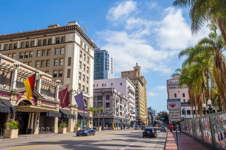 major ocean: SAN DIEGO, USA - SEPT 28, 2014: San Diego city on September 28, 2014 San Diegois a major city in California, on the coast of the Pacific Ocean in Southern California,