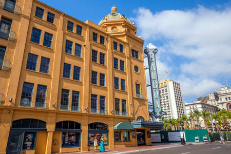 balboa: SAN DIEGO-SEP 28, 2014:  Balboa Theatre in San Diego on September 28, 2014. It was listed in the National Register of Historic Places in 1996.