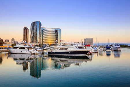 san diego: City View with Marina Bay at San Diego, California USA