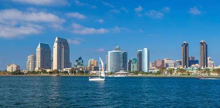 bay city: San Diego skyline CA USA Stock Photo
