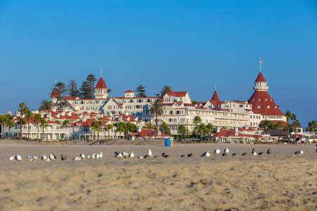marilyn monroe: SAN DIEGO, USA - SEP 28, 2014:  Victorian Hotel del Coronado on September 28, 2014 in San Diego, USA. In the hotel was filmed famous comedy Some like it hot, which starred Marilyn Monroe.