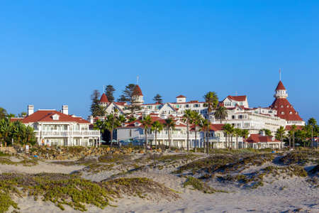 marilyn: SAN DIEGO, USA - SEP 28, 2014:  Victorian Hotel del Coronado on September 28, 2014 in San Diego, USA. In the hotel was filmed famous comedy Some like it hot, which starred Marilyn Monroe.