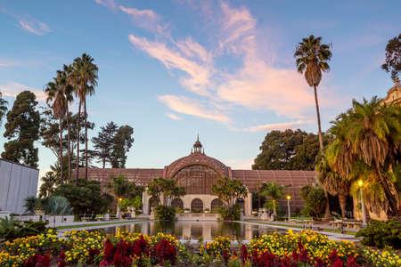 balboa: Balboa park Botanical building and pond San Diego, California USA Stock Photo