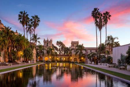 casa: Casa De Balboa at sunset, Balboa Park, San Diego