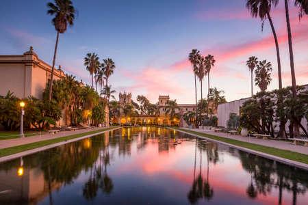 san diego: Casa De Balboa at sunset, Balboa Park, San Diego